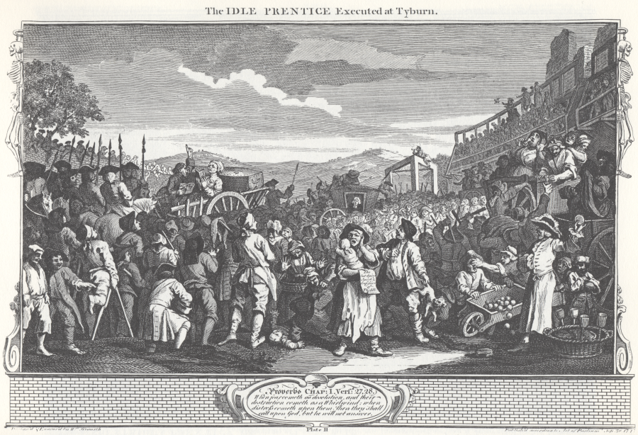 TT21 - William_Hogarth_-_Industry_and_Idleness,_Plate_11;_The_Idle_'Prentice_Executed at Tyburn